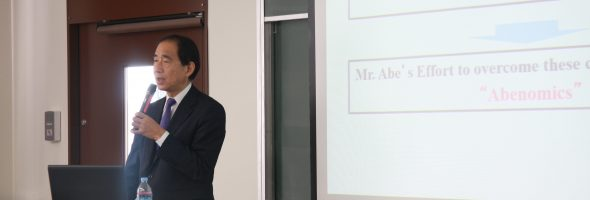【YUM!レポ】第4回学長講演会「これからの日本経済とイノベーションの必要性」~トヨタ・プリウスにみるイノベーションのあり方~
